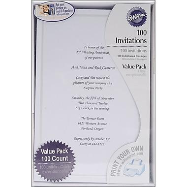 wilton 8 12 x 5 12 single border invitation - Staples Graduation Invitations