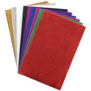 "Darice® 6"" x 9"" Glitter Sticky Back Foam Sheets, 12 Pieces"