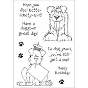 "Stampers Anonymous 5 1/2"" x 4"" Inky Antics Clear Stamp Set, Delightful Dogs #1"