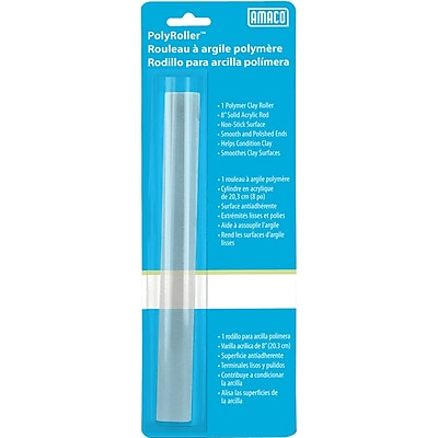 Amaco 11058T Clear Polymer Roller, 8