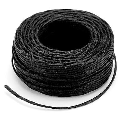 Tandy Leather Factory™ 11207-01 Black Linen Waxed Thread, 25 yd.