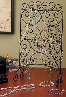 Darice® Metal Swirls Jewelry Stand, Black