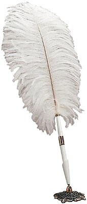 Darice® Feather Pen With Holder, White