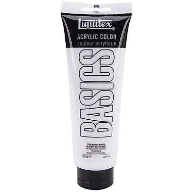 Liquitex Basics 8.5 oz. Acrylic Paint Tube, Titanium White (4385-432)