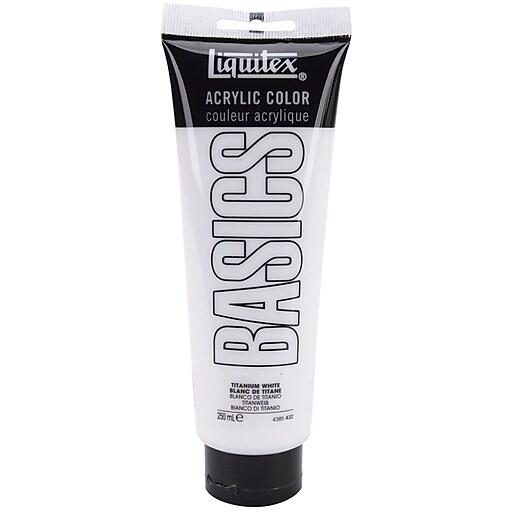 Liquitex Basics 8 5 Oz Acrylic Paint Anium White 4385 432 Staples