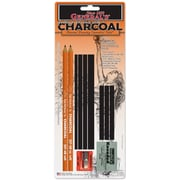 General Pencil® Charcoal Drawing Essentials Tool Kit, 11 Piece