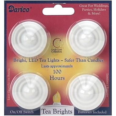 Darice 6201-90 White LED Tea Lights, 4/Pack