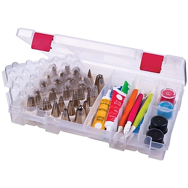 ArtBin® Solutions™ Bakers Cupboard Cake Decorating Storage Box, Translucent With Red