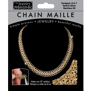 "Midwest Products 18"" Chain Maille European 4-in-1 Necklace Jewelry Kit, Gold/ Silver"
