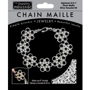 "Midwest Products 8"" Chain Maille Japanese 6-in-1 Bracelet Jewelry Kit, Silver"