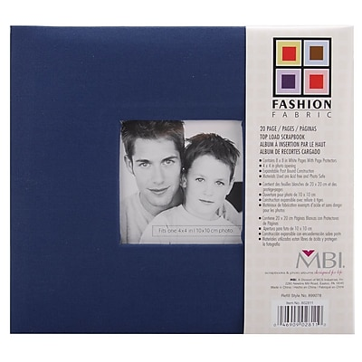 MBI Fashion Fabric Cover Postbound Album With 8