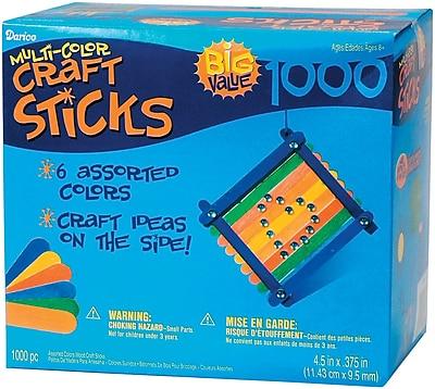 Darice® Wood Jumbo Craft Sticks, 1000 Pieces