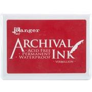 """Ranger 5""""x 6 3/4"""" x 3/4"""" Archival Jumbo Inkpad, Vermillion #3"""