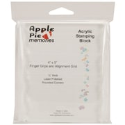 "Apple Pie Memories 4"" x 5"" Acrylic Stamp Block"
