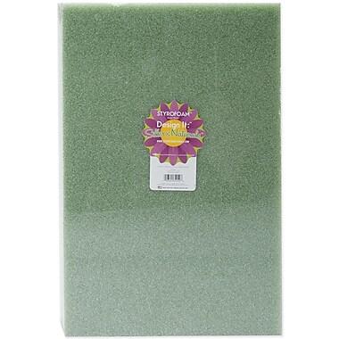 Floracraft B18122GS Green Styrofoam Block, 18