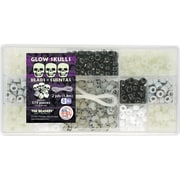 Beadery® Bead Box Kit, Glow Skulls, 579 Pieces