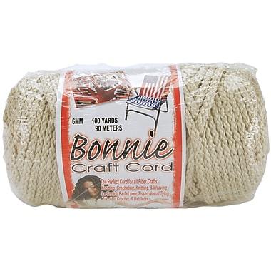 Pepperell BB6-100-005 Pearl (Beige) Bonnie Macrame Craft Cord, 100 yd.
