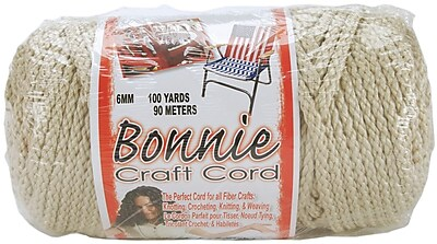 Pepperell 100 yds. Bonnie Macrame Craft Cord, Pearl (Beige)