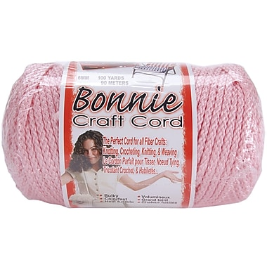 Pepperell BB6-100-011 Pink Bonnie Macrame Craft Cord, 100 yd.
