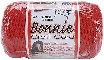 Pepperell 100 yds. Bonnie Macrame Craft Cord, Red