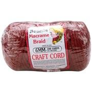 Pepperell BB6-100-018 Wine Bonnie Macrame Craft Cord, 100 yd.