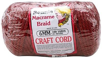 Pepperell 100 yds. Bonnie Macrame Craft Cord, Wine