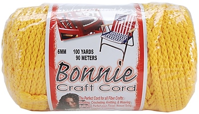Pepperell 100 yds. Bonnie Macrame Craft Cord, Sunshine Yellow