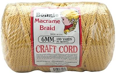 Pepperell 100 yds. Bonnie Macrame Craft Cord, Gold