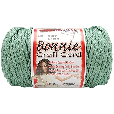 Pepperell BB6-100-031 Sage Bonnie Macrame Craft Cord, 100 yd.