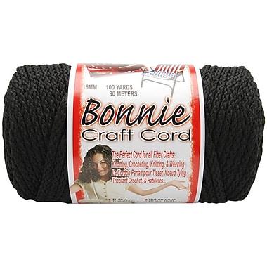 Pepperell BB6-100-042 Black Bonnie Macrame Craft Cord, 100 yd.