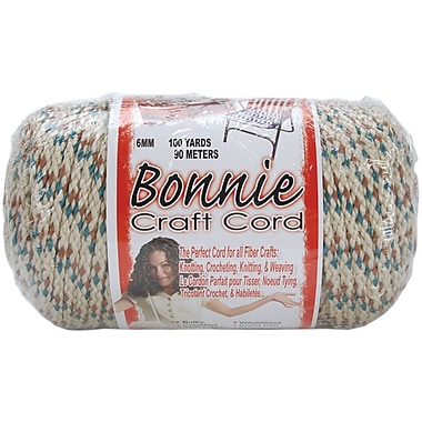 Pepperell BB6-100-080 Sandalwood Bonnie Macrame Craft Cord, 100 yd.