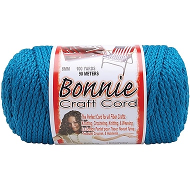 Pepperell BB6-100-106 Sapphire Teal Bonnie Macrame Craft Cord, 100 yd.