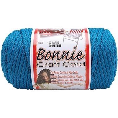 Pepperell BB6-100-106 Sapphire Teal Bonnie Macrame Craft Cord, 100 yd.