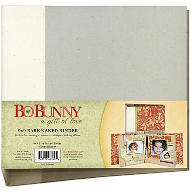 Bo Bunny 3 Ring Bare Naked Binder, 9