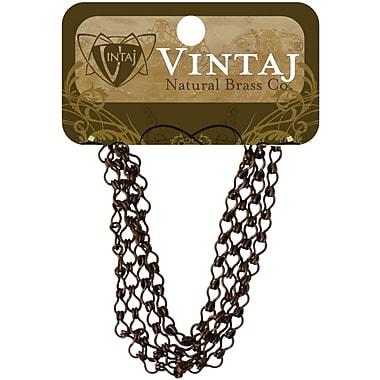Vintaj® 3.7mm Ladder Chain, Natural Brass, 24