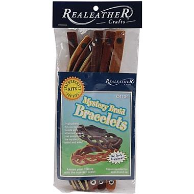 Silver Creek Leathercraft Kit, Mystery Braid Bracelets, 8/Pack