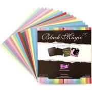 """Darice® 12"""" x 12"""" Core'dinations Cardstock Pad, Hocus Pocus Black Magic"""