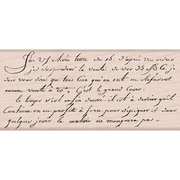 "Hero Arts® 3 3/4"" x 3 1/4"" Mounted Rubber Stamp, Old French Writing"