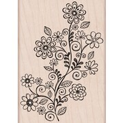 "Hero Arts® 4"" x 4"" Mounted Rubber Stamp, Flower Swirl Vine"