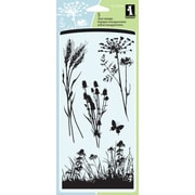 "Inkadinkado® 4"" x 8"" Clear Stamp, Meadow"