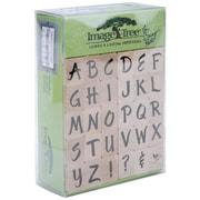 EK Success™ Image Tree Handle Stamp Set, Susy Ratto Brush Letter Alphabet/Upper