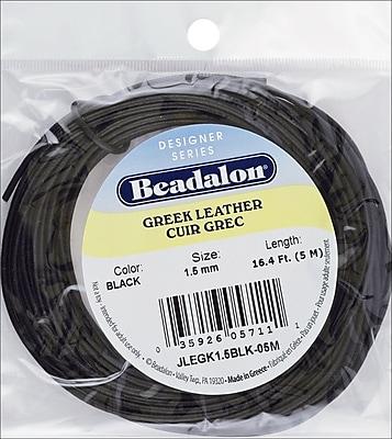 Beadalon® 1.5 mm Greek Leather Round Lace, Black