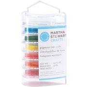 """Martha Stewart 1.19"""" x 2.11"""" x 4.09"""" Modern Festive Ink Pad Multipack, Brights, 6/Pack"""