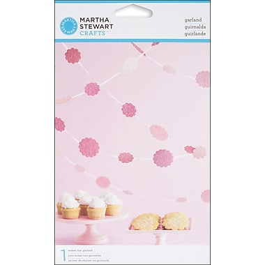 Martha Stewart M4420018 Pink Vintage Girl Glittered Dot Garland Kit, 9.4