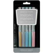 American Crafts Medium Point Permanent Marker, Assorted, 5/Pack