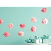 """Martha Stewart M4410041 Pink Celebrate Decor Pom-Pom Garland, 6"""" x 5.75"""""""