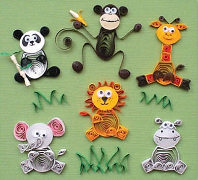 Quilled Creations Quilling Kit, Jungle Buddies