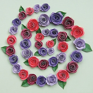 Quilled Creations Spiral Roses Quilling Kit, Burgundy/Red/Purple