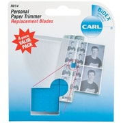 Carl® Brands Personal Paper Trimmer Replacement Blades, Straight