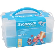 Snapware® Snap 'n Stack 2 Layers Medium Rectangle Craft Organizer With Divider Insert